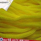 Gelbe runde Polyester-Zeichenkette-umsponnenes Seil/Netzkabel