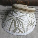 La moda Sport Hat Tapa de la visera de paja con una larga Brim
