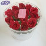 Rectángulo redondo de acrílico de lujo claro de encargo de las flores