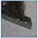Balais droits sertis de bande de la Manche en métal de fil d'acier