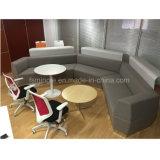 Sofà del tessuto di figura rotonda di disegno della mobilia di svago dell'ufficio