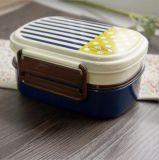Casella di pranzo di plastica del contenitore di alimento della casella di Bento con Spork 20106