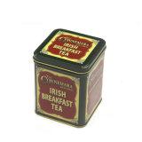 Lata de caramelos de té de la plaza de la caja de café