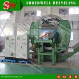 Usine de recyclage des pneus de vente chaude pour le déchiquetage utilisés dans des pneus de voiture/OTR 50-150mm Puces en caoutchouc