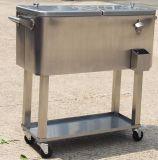 Refrigerador del acero inoxidable del patio del balanceo de 80 cuartos de galón con la base del corcho