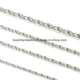Las mujeres de acero inoxidable joyas collar de cadena