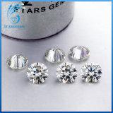 5mm 심혼과 화살 0.5CT 백색 합성 Moissanite 다이아몬드의 둘레에