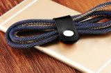 Расчесывания Универсальный Стиль джинсов телефонный кабель зарядного устройства