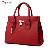 Het nieuwe Vrouwelijke Leer van het hoogste-Handvat van de Handtassen van de Vrouwen van het Ontwerp Dame Tote Bags