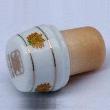 Tappo sintetico del sughero della protezione superiore di Caramic della presa di fabbrica, accessori del vino