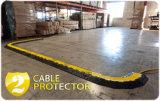 Пандус кабеля канала желтой куртки 2 резиновый для напольного