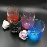 Tasse ronde en plastique acrylique de prime en verre de vin de 16 onces