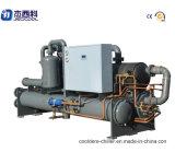 Refrigerador de agua industrial del tornillo refrigerado por agua de la baja temperatura