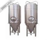 Tanques de fermentação inoxidáveis do tanque da camada dobro do tanque da cerveja do tanque de aço