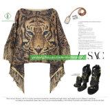 熱い販売法のヨーロッパの冬のトラはショールの方法女性の服を編んだ
