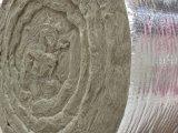Chinesische thermische Isolierungs-Baumaterialien Rockwool umfassende Felsen-Wolle-Zudecke mit Maschendraht
