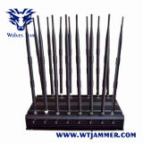 調節可能な16アンテナ強力なGSM 3G 4glte 4gwimax WiFi UHF VHF GPS Lojackのリモート・コントロール妨害機