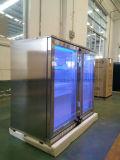 Giro Duplo Porta de vidro de trás Bar Refrigerador com Single-Temperature Frigorífico Comercial