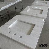 Белый Countertop кухни Corian акриловый твердый поверхностный