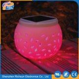 IP65, la cerámica Jardín luz solar LED lámparas decorativas de calle