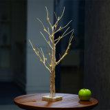 1.5m LED 온난한 화이트 크리스마스 나무 빛 나무 훈장 빛