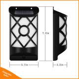 Solarzaun-Garten-Wand-Lampe des tanzen-Flamme-Licht-66 LED flackernde im Freien wasserdichte