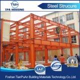 建築現場のための大きい赤灯の鉄骨構造の倉庫