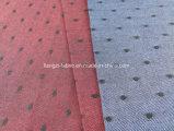 Los hilados de algodón teñido de Oxford Dobby tejido camisa -lz8682