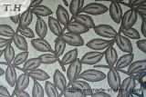 De Textiel en de Stof van Chenille Decotative van het Patroon van het blad