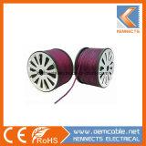 Bereifter purpurroter transparenter Kern-Draht des Lautsprecher-Draht-Paar-Draht-zwei