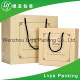 Kundenspezifischer LuxuxPACKPAPIER-Beutel/Rohstoffe des Papierbeutels in China