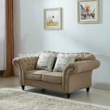 Sofà poco costoso del tessuto della mobilia modulare di combinazione con il blocco per grafici di legno