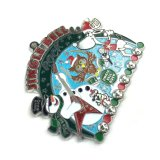 Medalha colorida do Natal do metal do logotipo feito sob encomenda por atacado da exportação