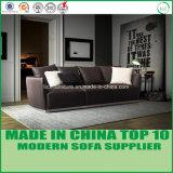 Sofá moderno do couro 1+2+3 de Loveseats do látex branco puro
