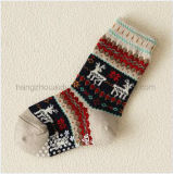 Warmer Winter-ungerade Retro klare Entwurfs-Kind-Mannschafts-Socke