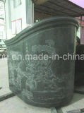 Каменный гранит высекая надгробные плиты китайского типа с гравировкой