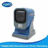 Venda a quente de YK MP6200 Supermercado China Scanner de código de barras 2D para a leitura de código QR e pdf 417