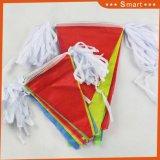 Esterno decorativo nelle bandierine dello stendardo del portello su stringa
