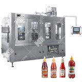 precio de fábrica de salsa de tomate automático // mermelada de frutas Crema de pasta de miel la botella de cristal botella PET tipo pistón de la máquina de llenado