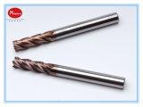 Moinho de extremidade contínuo do carboneto do CNC de 4 flautas