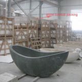 Vasca da bagno indipendente di bagno della vasca del marmo di pietra del granito per il massaggio