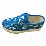 Chaussures de toile magiques de bande de chaussures occasionnelles d'espadrille d'enfants (ZL1216-2)