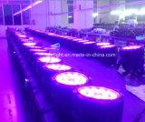 極度の明るさ! 1つのDMX制御段階LEDの同価に付き18X12W Rgbwuv 6つは照明、DJ LEDの同価ライトできる