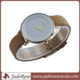 Reloj de acero inoxidable reloj de pulsera de cuero