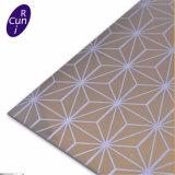 De productie etste het Decoratieve Blad van het Metaal van het Patroon voor Roltrap