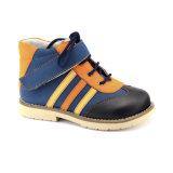 L'école en cuir chausse des chaussures de gosses de stabilité avec Footbed orthopédique détachable