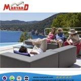 Sofà tessuto mobilia esterna poco costosa calda del tessuto di vendita con l'ammortizzatore impermeabile