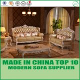 Sofá de couro italiano do lazer de madeira da mobília da sala de visitas