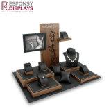 목걸이를 위한 주문을 받아서 만들어진 대중 음악 나무 또는 아크릴 보석 전시 및 반지 및 시계