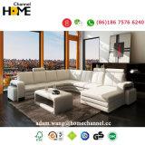 Современный стиль угловой диван в разрезе, Италия белого цвета кожи (HC1006)